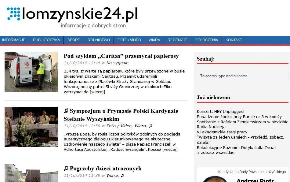 www.lomzynskie24.pl