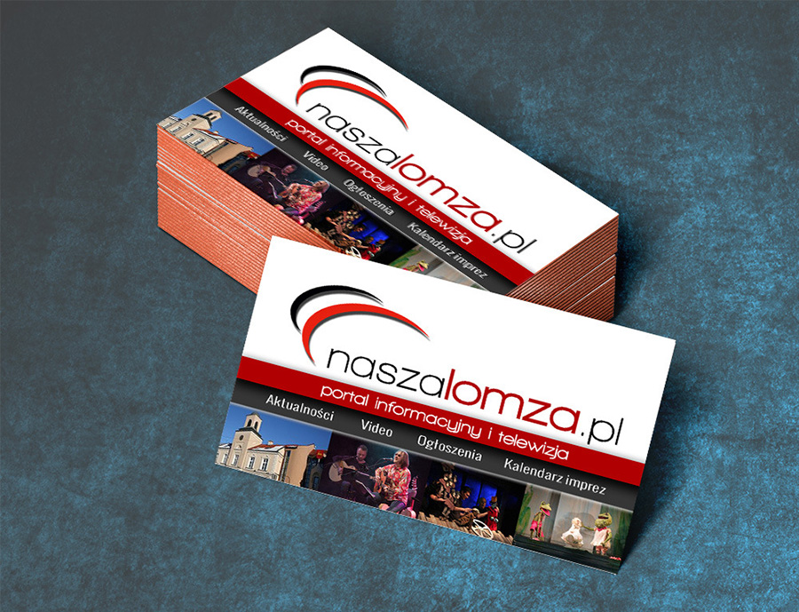 Projekt wizytówki | naszalomza.pl